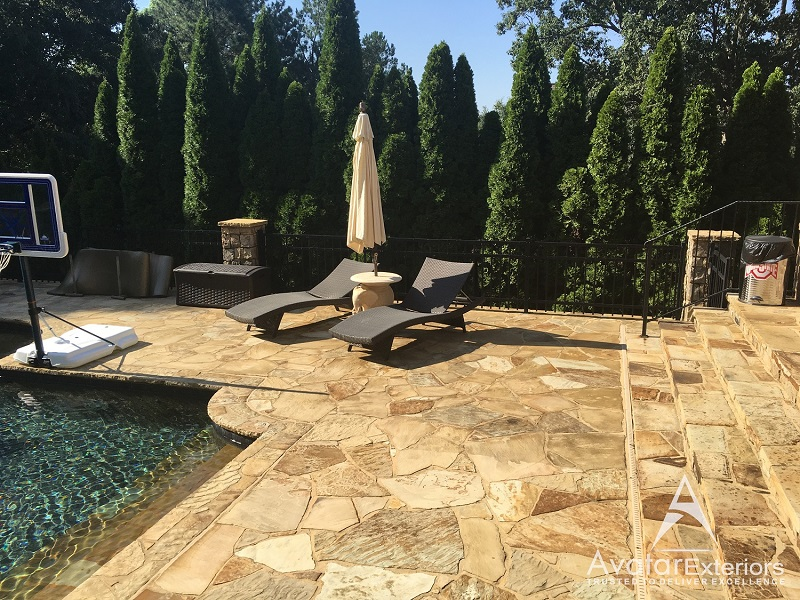 Pool deck remodeling