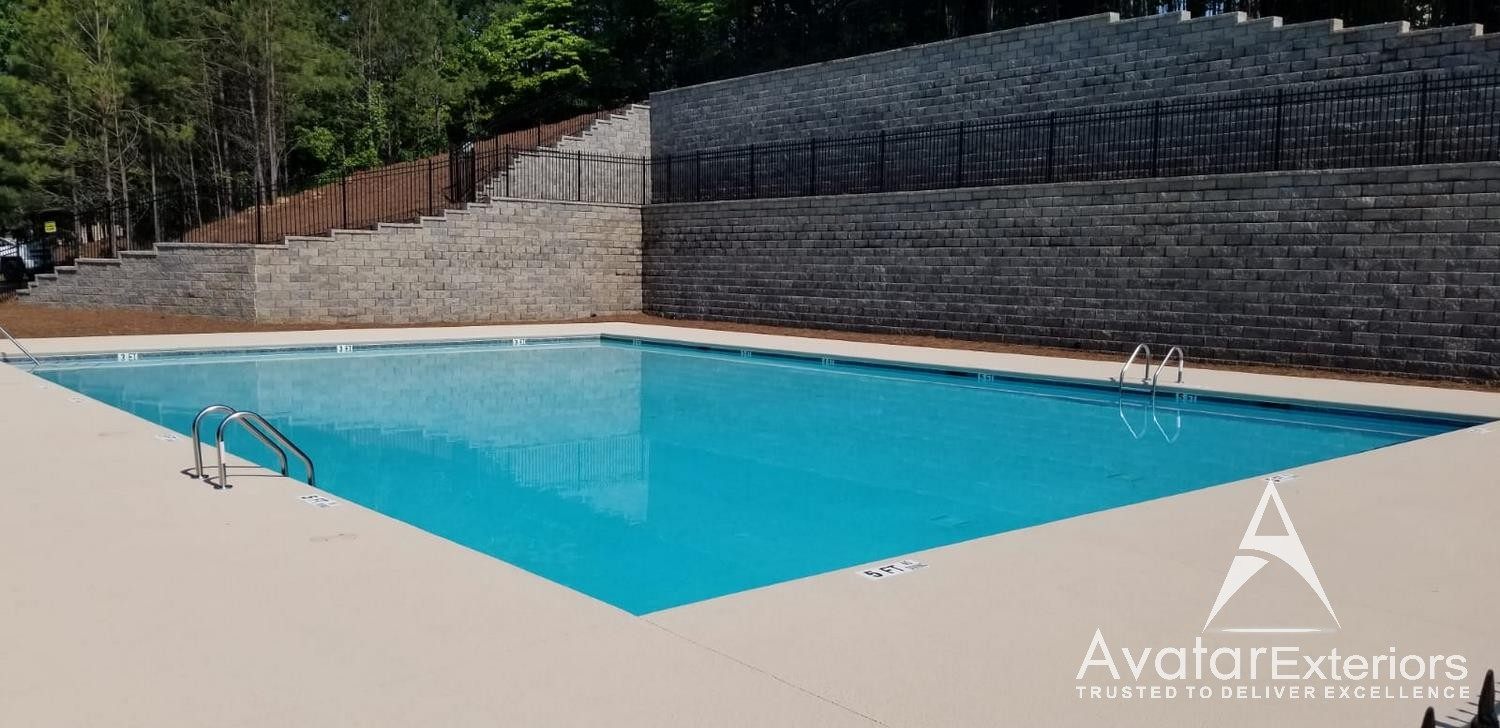 commercial pool remodeling woodstock